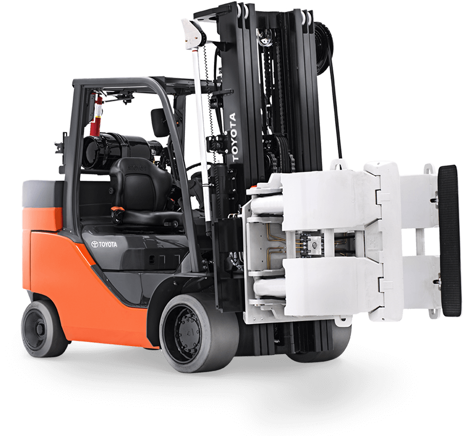 toyota paper roll forklift attachment